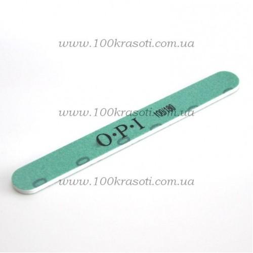 Пилка для ногтей OPI зеленая прямая 100х180