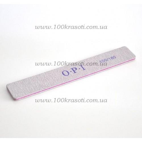 04_Пилка для ногтей OPI серая прямоугольная 100*180