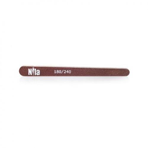 Nila Пилочка для ногтей маленькая Капля коричневая 180/240