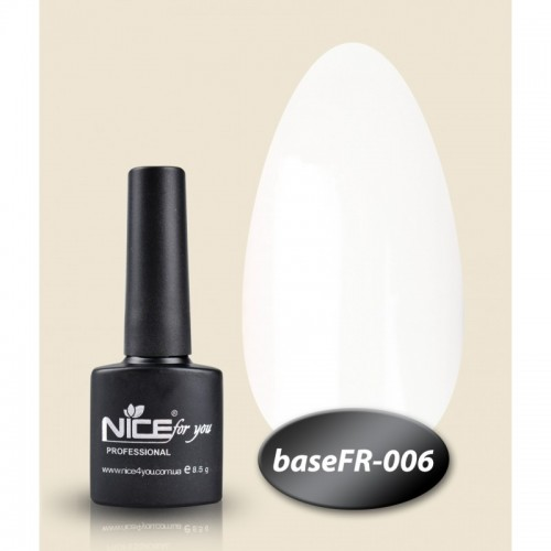 База Nice for you French 8,5 ml - каучук - FR 006 - белый