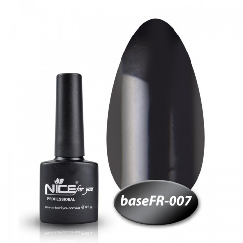 База Nice for you French 8,5 ml - каучук - FR 007 - черный